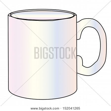A simple white plain coffee mug over a white background