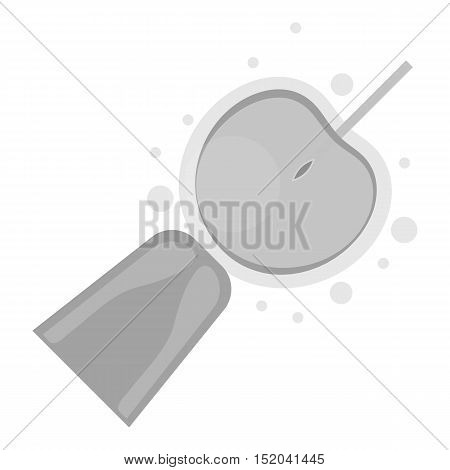 Artificial insemination icon in monochrome style isolated on white background. Pregnancy symbol vector illustration.