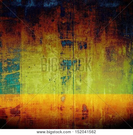 Scratched grunge background or spotted vintage texture. With different color patterns: yellow (beige); brown; green; blue; red (orange); black