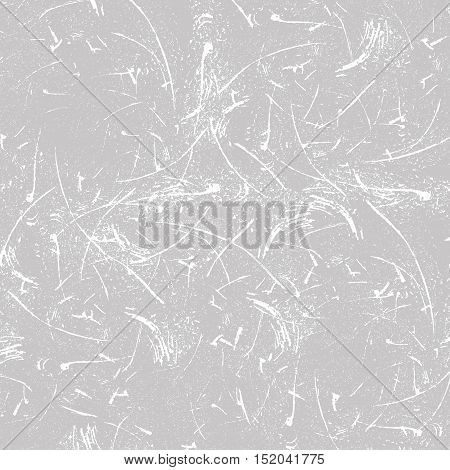 Grey and white scratched background. Vector illustration
