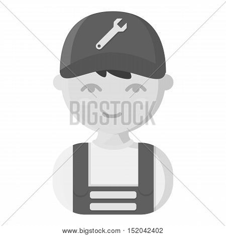 Mechanic monochrome icon. Illustration for web and mobile.