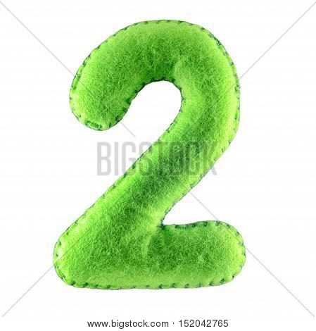 Number 2-two-from Green Felt