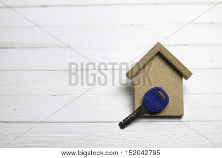 key and russian coins on white background