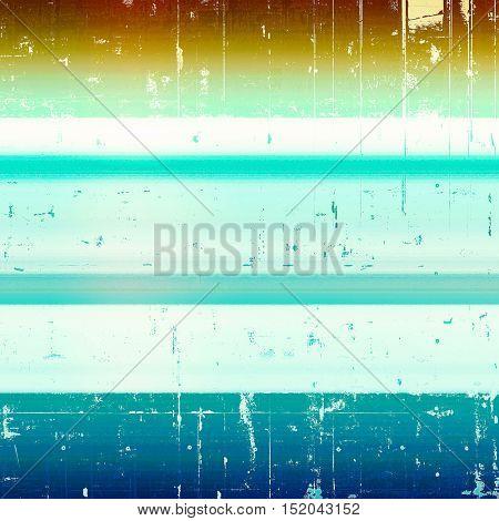 Vintage decorative texture with grunge design elements and different color patterns: yellow (beige); brown; blue; white; cyan