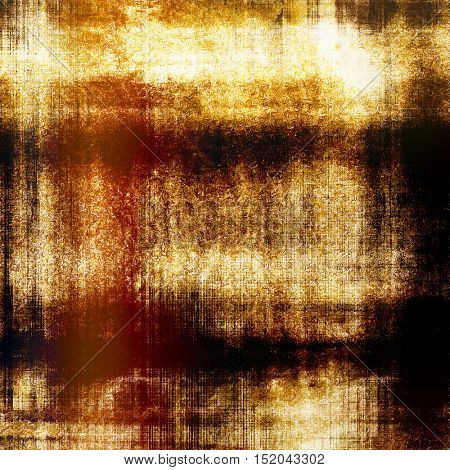 Abstract scratched background or frame with weathered grunge texture. Ancient style backdrop with different color patterns: yellow (beige); brown; red (orange); black