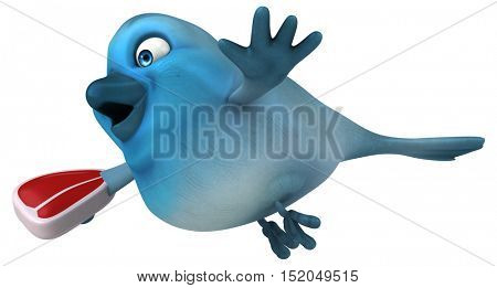 Fun bird - 3D Illustration