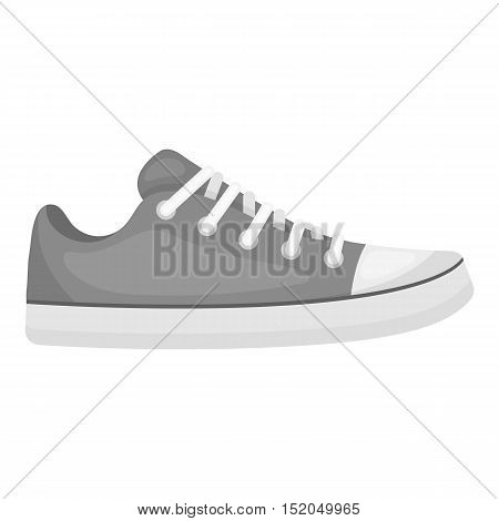 Gumshoes icon in monochrome style isolated on white background. Shoes symbol vector illustration.