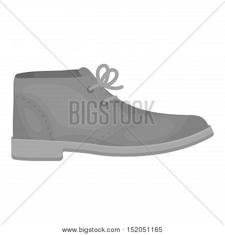 Oxfords icon in monochrome style isolated on white background. Shoes symbol vector illustration.