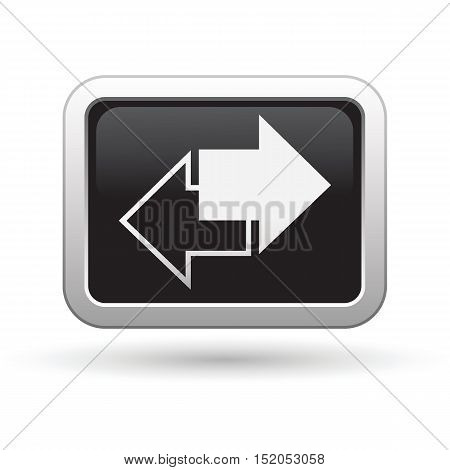 Arrows icon on the button. Vector illustration