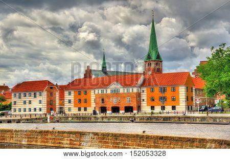 View of Saint Olaf Church in Helsingor - Denmark