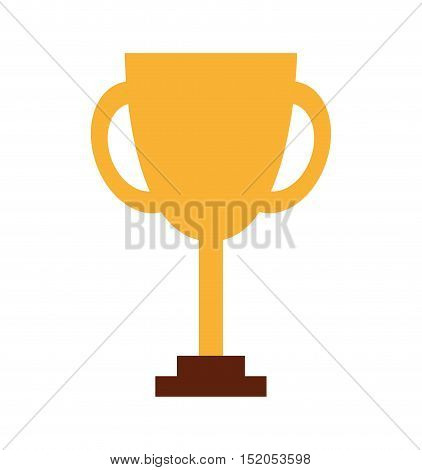 trophy first place line icon vector illustration design