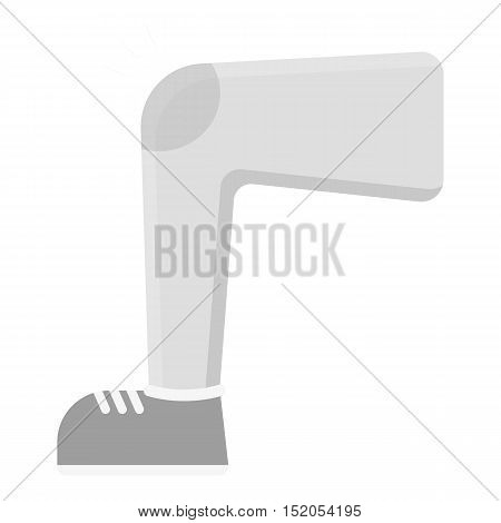 Knee injury icon monochrome. Single sick icon from the big ill, disease monochrome.
