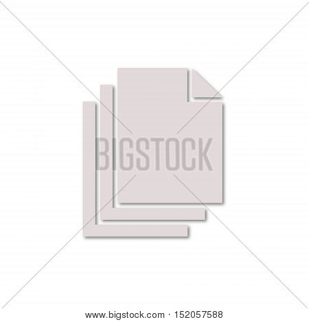 Simple vector Document icon on white background