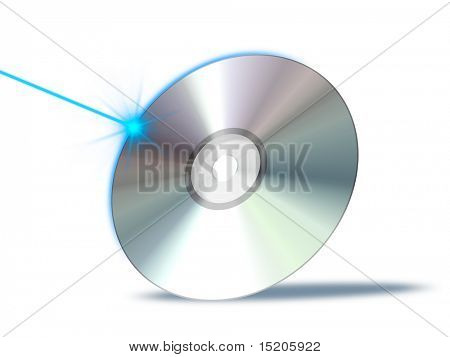 An illustration of a bluray dvd cd rom