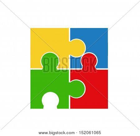 Puzzle design illustration art on white background
