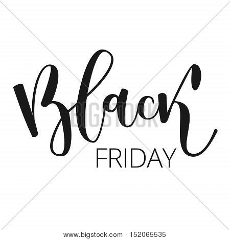 Black friday sale hand written inscription isolated on white background