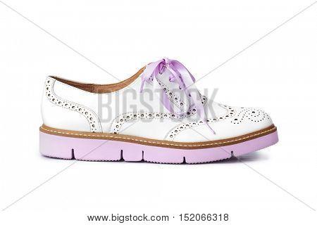 Pink shoe isolated on white background