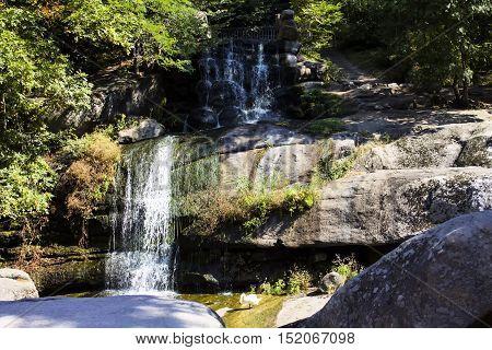 Falls water park rocks Uman riverlandscape big sofiyevsky park external.