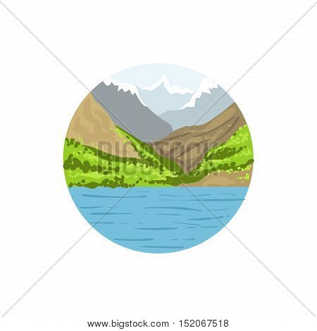 Outdoor Nature As A National Canadian Culture Symbol. Isolated Illustration Representing Canada Famous Signature On White Background