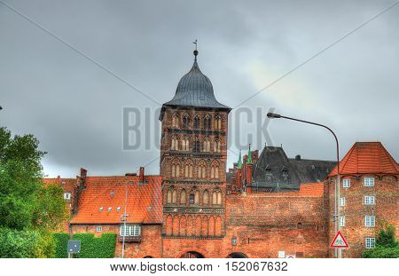 The Burgtor, the northern gate of the old town of Lubeck - Schleswig-Holstein, Germany