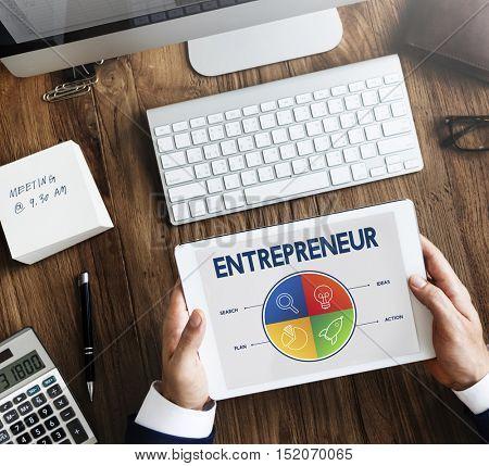 Business Startup Entrepreneur Strategy Target Concept