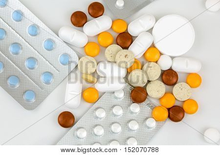 Taking Out Pills And Capsules Of Blister Pack
