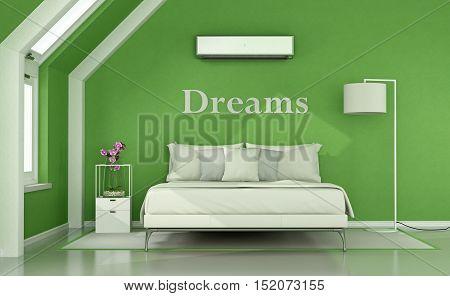Green Bedroom In The Attic