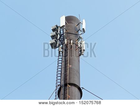 the big Microwave and big cellular tower
