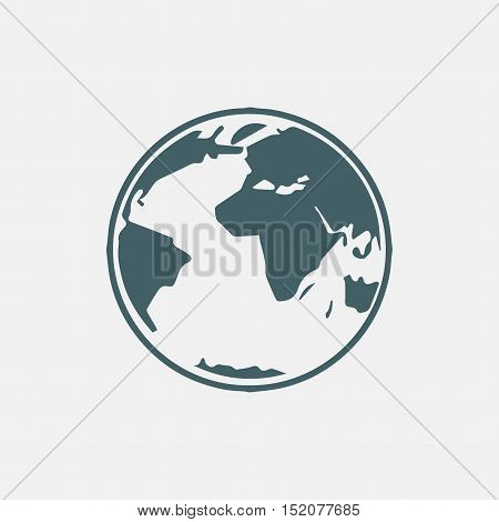 globe vector icon isolated on white background