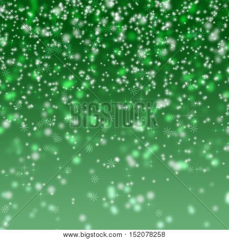 Abstract Green Glitter Background