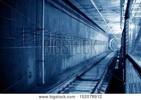 Under construction in the subway tunnel project.