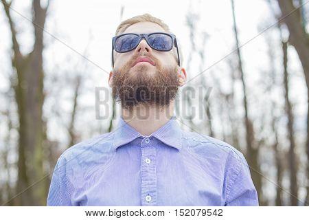 Man Breathing Fresh Air