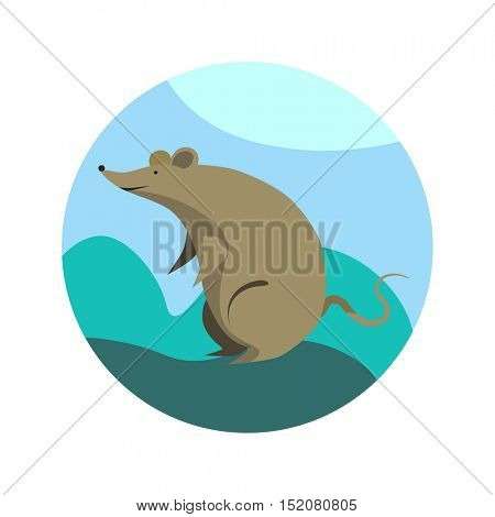 Vector rat - animal from Chinese Zodiac