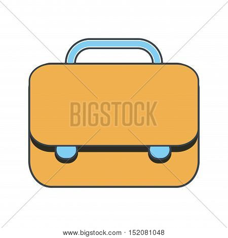 briefcase business accessory icon over white background. vector illustration