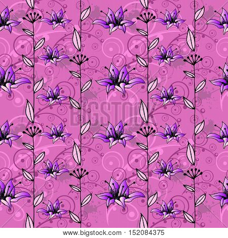 Seamless abstract hand-drawn pattern. Vector EPS10 illustration.