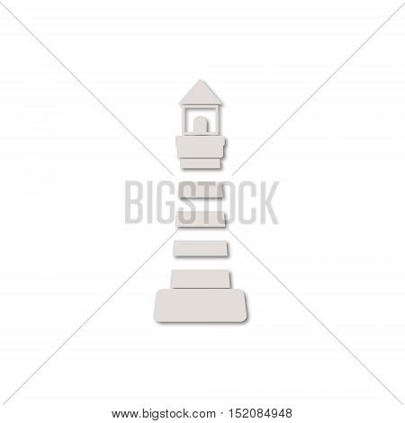 Simple vector Lighthouse icon on white background