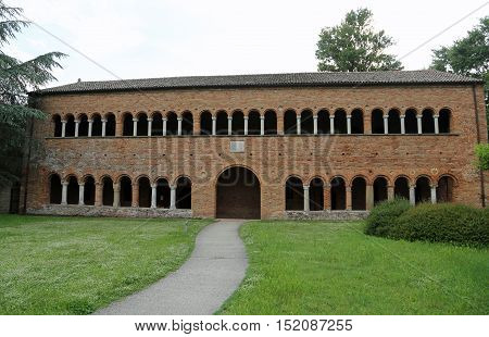 Historic Building Called Palazzo Della Ragione In The Abbey Of Pomposa