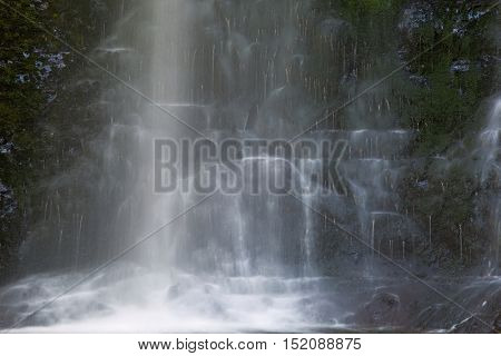 Waterfall coming down on the rocks