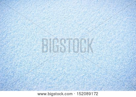 Clean plain cold white blue winter snow surface texture background