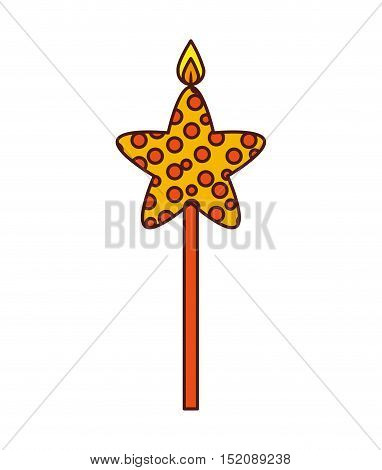 candle flame star birthday isolated icon vector illustration design