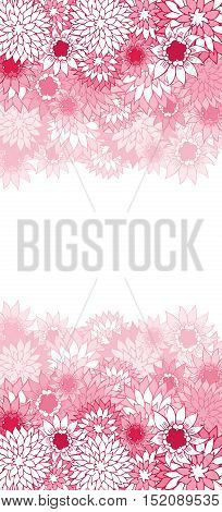 Beautiful color floral card. Vector eps10 illustration.