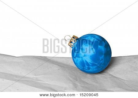 An image of a nice blue christmas ball background
