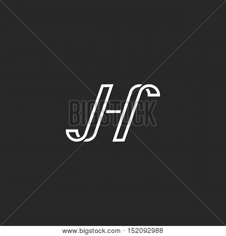 Letter H Hipster Monogram Logo, Idea Capital Symbol Emblem