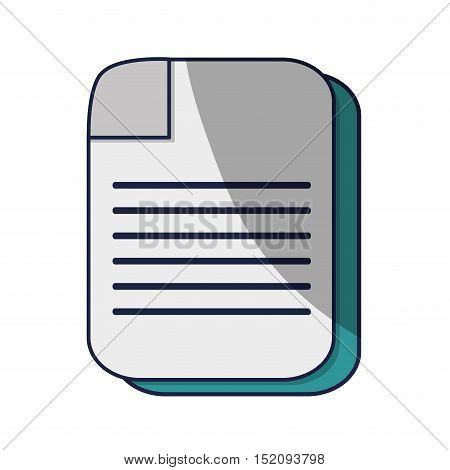 paper sheet page icon over white background. vector illustration