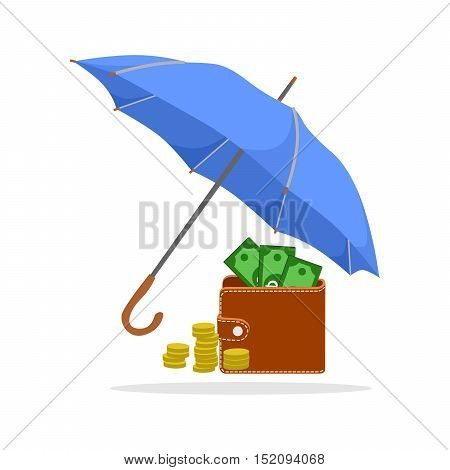 the illustration with the umbrella and money.