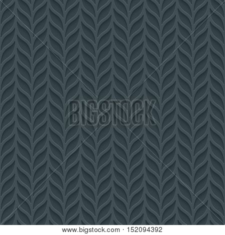 Foliage seamless background. Neutral tileable pattern of vertical lines of leaves. Vector EPS10.