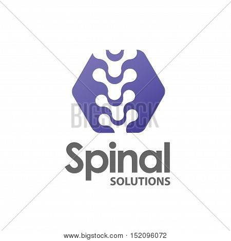 spinal diagnostic center logo concept, spine pain medical center