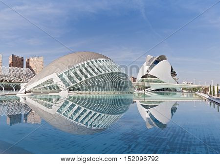 VALENCIA, SPAIN-OCTOBER 08, 2016: City of the Arts and Sciences, Valencia, Spain