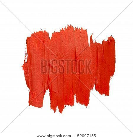 Red vector spot of brush strokes. Red vector grunge daub