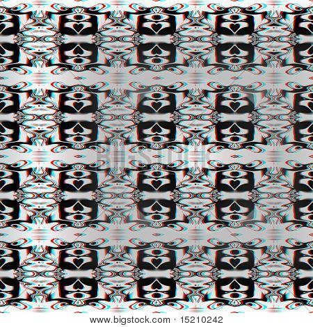 A nice abstract 3d red green anaglyph background